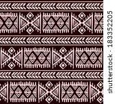 tribal vintage ethnic seamless... | Shutterstock .eps vector #183352205