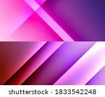 set of modern geometric shapes... | Shutterstock .eps vector #1833542248