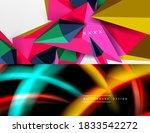 set of modern geometric shapes... | Shutterstock .eps vector #1833542272