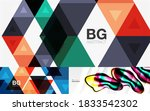 geometric abstract backgrounds... | Shutterstock .eps vector #1833542302