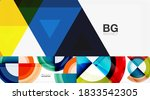 geometric abstract backgrounds... | Shutterstock .eps vector #1833542305