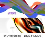geometric abstract backgrounds... | Shutterstock .eps vector #1833542308