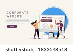corporate website website ui...