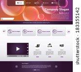 business website template   Shutterstock .eps vector #183355142