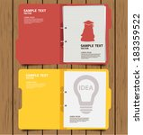folder with documents vector... | Shutterstock .eps vector #183359522