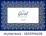 vector blue frame  vignette ... | Shutterstock .eps vector #1833596638