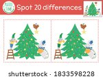 christmas find differences game ... | Shutterstock .eps vector #1833598228