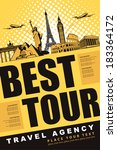Постер, плакат: banner best tour for