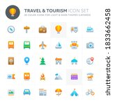 color vector icons related to...   Shutterstock .eps vector #1833662458