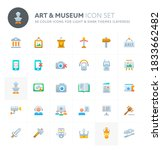 color vector icons related to... | Shutterstock .eps vector #1833662482