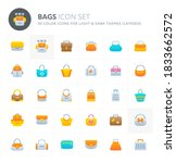 color vector icons related to... | Shutterstock .eps vector #1833662572