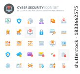 color vector icons related to... | Shutterstock .eps vector #1833662575