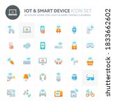 color vector icons related to...   Shutterstock .eps vector #1833662602