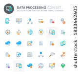 color vector icons related to...   Shutterstock .eps vector #1833662605