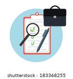 icon business briefcase black... | Shutterstock .eps vector #183368255