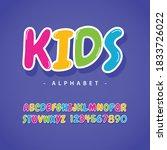 kids alphabet full color vector ...   Shutterstock .eps vector #1833726022