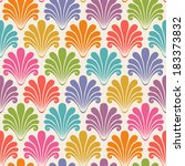 vector seamless pattern with... | Shutterstock .eps vector #183373832