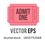 the isolated vector pink... | Shutterstock .eps vector #1833752068