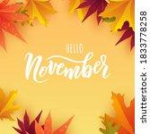 november text. hand lettering... | Shutterstock .eps vector #1833778258