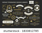 vintage typographic decorative... | Shutterstock .eps vector #1833812785