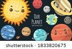 set of universe  solar system...   Shutterstock .eps vector #1833820675