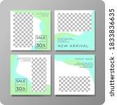 set of editable minimal square... | Shutterstock .eps vector #1833836635