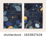 luxury wedding invite cards... | Shutterstock .eps vector #1833837628