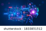 ai or artificial intelligence... | Shutterstock .eps vector #1833851512