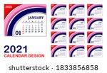 2021 calendar graphic design...   Shutterstock .eps vector #1833856858