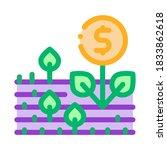 money tree on field icon vector....   Shutterstock .eps vector #1833862618