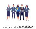 businessman character design in ...   Shutterstock .eps vector #1833878245