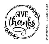 give thanks   inspirational... | Shutterstock .eps vector #1833905185