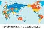 world map   asia  australia and ...   Shutterstock .eps vector #1833929668