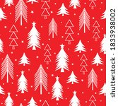 seamless pattern with christmas ... | Shutterstock .eps vector #1833938002