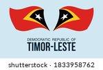 timor leste flag state symbol...