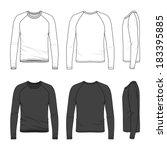 blank men's raglan sleeve top...   Shutterstock .eps vector #183395885