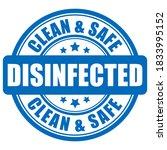 disinfected vector label... | Shutterstock .eps vector #1833995152