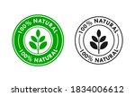 100  natural product logo... | Shutterstock .eps vector #1834006612