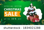 special offer  christmas sale ... | Shutterstock .eps vector #1834021288