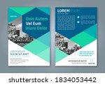 minimal geometric shapes design ... | Shutterstock .eps vector #1834053442