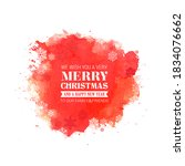 merry christmas everyone ...   Shutterstock .eps vector #1834076662
