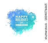 happy holidays vector brush...   Shutterstock .eps vector #1834076665