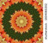 Decorative Autumn Mandala  With ...