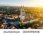 Aerial View Of The Cathedral In ...