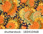 Vintage Cloth Pattern Close Up...