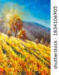 Warm Sunny Landscape Painting....