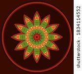 Decorative Autumn Mandala With...