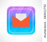 sms envelop icon | Shutterstock .eps vector #183411752