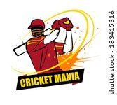 cricket mania west indies | Shutterstock .eps vector #183415316