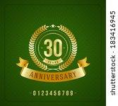 golden vintage anniversary... | Shutterstock .eps vector #183416945